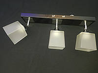 Припотолочная люстра на 3 лампы поворотные плафоны квадраты, фото 1