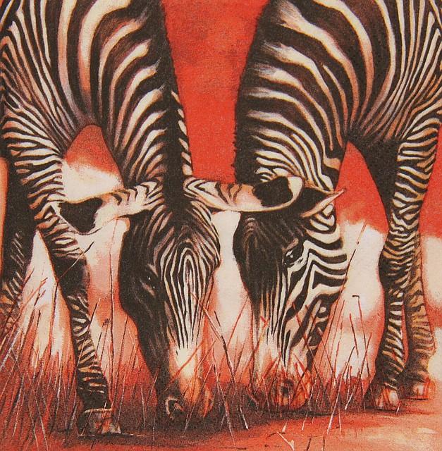 Декупажные салфетки зебры 528