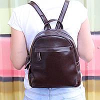 """Женский кожаный рюкзак на 2 отделения """"Карина Dark Brown"""", фото 1"""