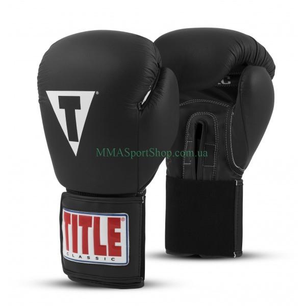 Боксерские перчатки TITLE Classic Originals Leather Training Elastic 2.0 Черные