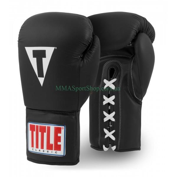 Боксерские перчатки TITLE Classic Originals Leather Lace Training 2.0 Черные