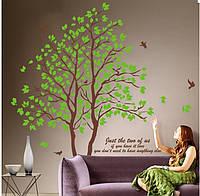 Интерьерная наклейка на стену - Дерево двойное (200х200см), фото 1