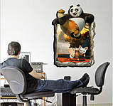 Самоклеющаяся 3D наклейка  на стену   Кунг-фу Панда (100х70см), фото 2
