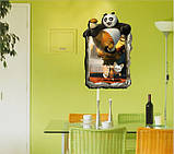 Самоклеющаяся 3D наклейка  на стену   Кунг-фу Панда (100х70см), фото 3