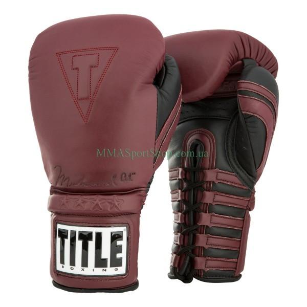 Боксерські рукавички TITLE Ali Authentic Leather Training
