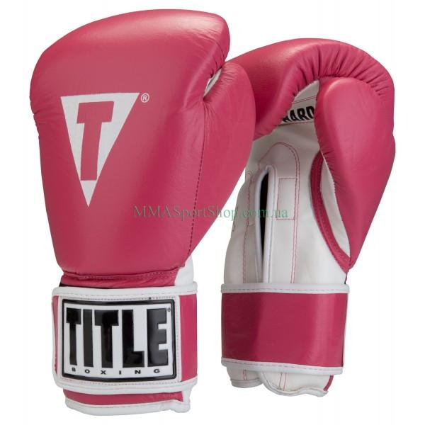 Боксерские перчатки TITLE Originals Pro Style Leather Training Розовые