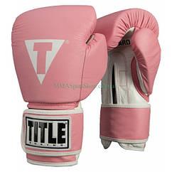 Боксерські рукавички TITLE Originals Pro Style Leather Training Світло-рожеві