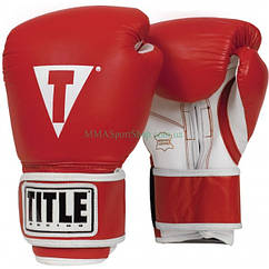 Боксерські рукавички TITLE Originals Pro Style Leather Training Червоні