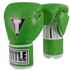Боксерські рукавички TITLE Limited Pro Style Leather Training Салатові