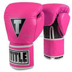 Боксерські рукавички TITLE Limited Pro Style Leather Training Рожеві