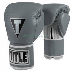 Боксерські рукавички TITLE Limited Pro Style Leather Training Сірі