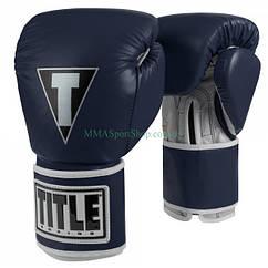Боксерські рукавички TITLE Limited Pro Style Leather Training Темно-сині