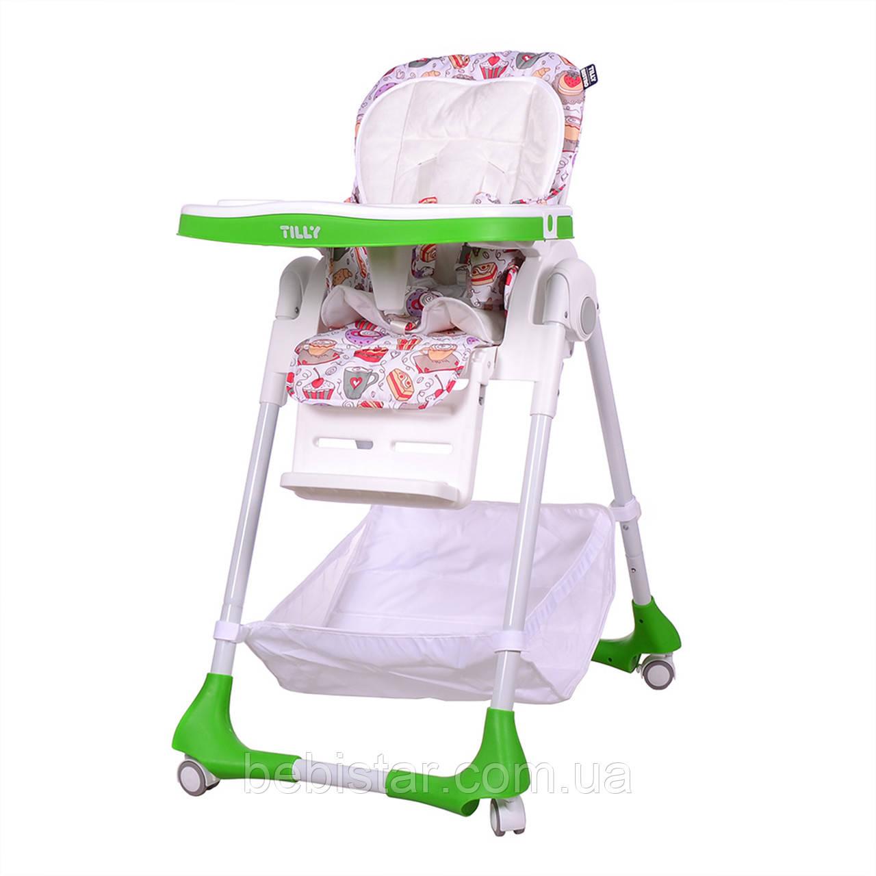 Стульчик для кормления зеленый TILLY Bistro T-641/1 Green деткам от 6 месяцев