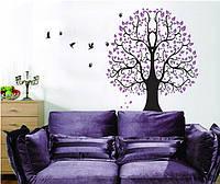 Самоклеющаяся  наклейка  на стену Дерево (110х92см)