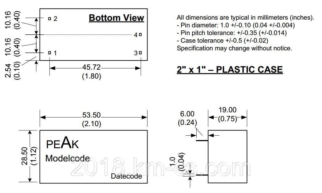 Микросхема AC-DC PPM10-E-15ELF (PEAK electronics)