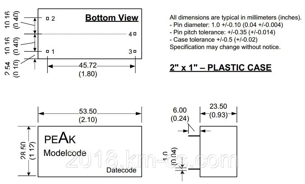 Микросхема AC-DC PPM20-E-24ELF (PEAK electronics)