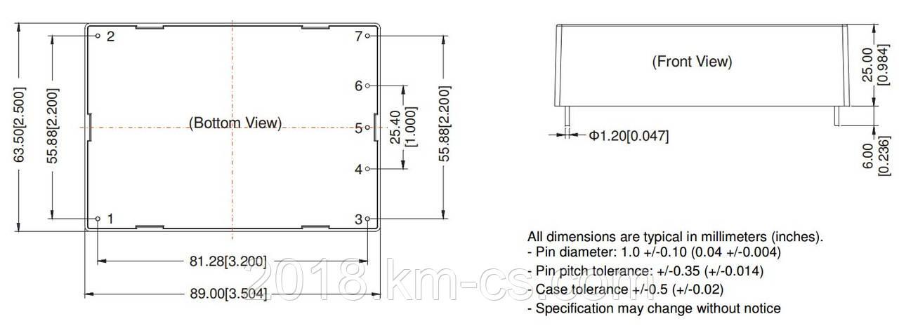 Микросхема AC-DC PPM40-H-24ELF (PEAK electronics)