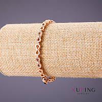 Браслет Xuping плетение Бесконечность L-18-20см s-5мм цвет золото