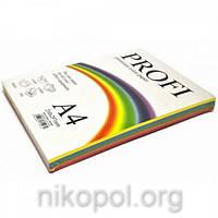 Набор цветной бумаги Profi 5 цветов 100 листов (насыщенная), Deep 82А 160 гр/м2
