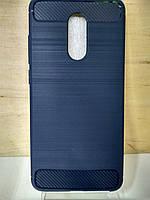 Силиконовый противоударный синий чехол Xiaomi Redmi 5
