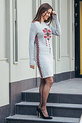 Платье вязка с орнаментом - Стася