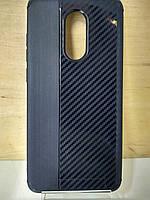 Силиконовый противоударный чехол с карбоновыми вставками Xiaomi Redmi 5