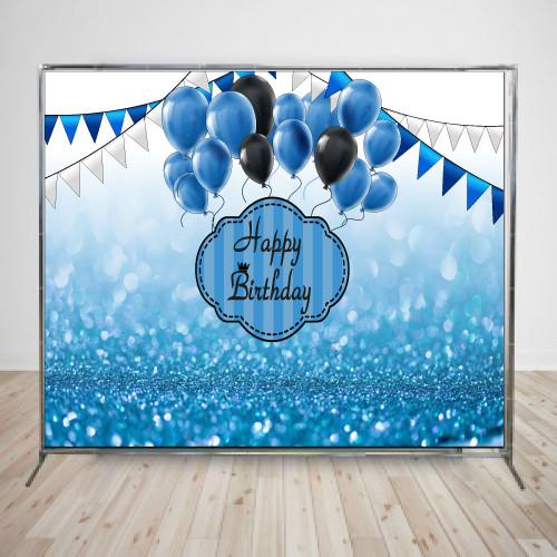 Баннер блестящий голубой 1,  2х3м