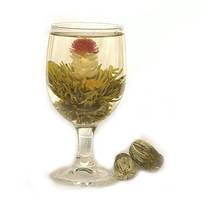 Цветочный чай персик, красиво раскрывается при заваривании, вкусный и ароматный, в упаковке 2 шт., 18 г