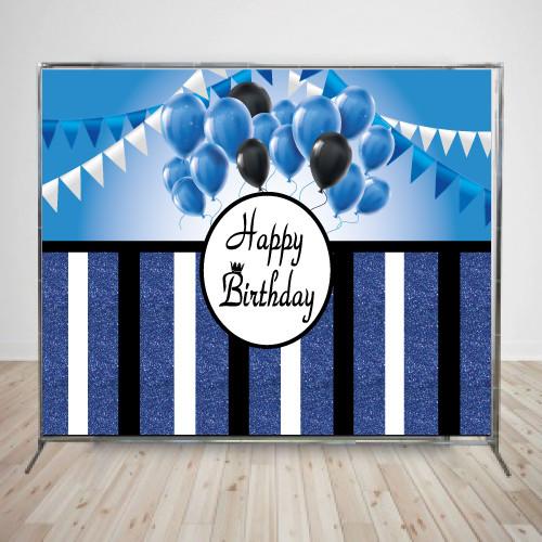 Баннер блестящий с синими полосками,  2х3м