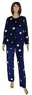Пижама женская зимняя махровая 18089 Stars вельсофт, р.р.40-54