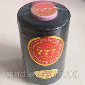 """Черные нитки """"777""""  швейные 40/2 4000ярдов (от 6 бобин)"""