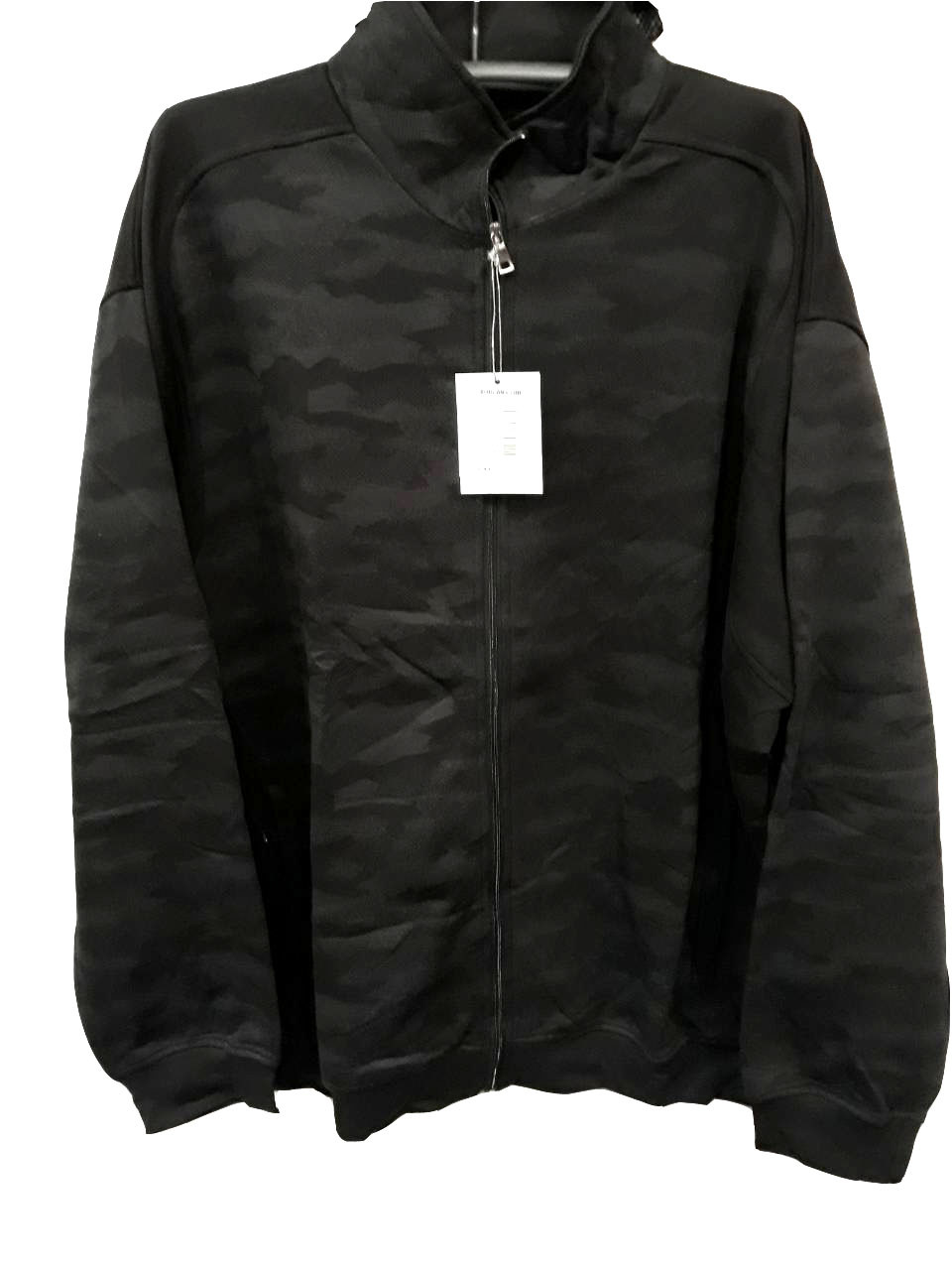 Кофта супер батал мужская на молнии Borgan Club теплая Серый камуфляж без капюшона