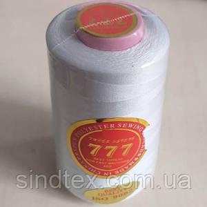 """Белые нитки """"777""""  швейные 40/2 4000ярдов (от 6 бобин)"""