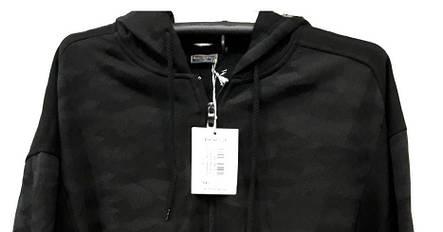 Кофта супер батал мужская на молнии Borgan Club теплая Серый камуфляж с капюшоном, фото 2