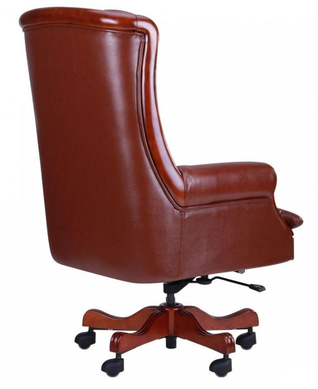 Кресло Линкольн, кожа коричневая (671-B+PVC) мех., DT-DeepTilt (фото 4)