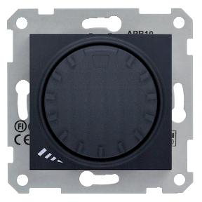 Светорегулятор поворотно-нажимной универсальный 40-600 Вт/ВА Sedna графит, фото 2