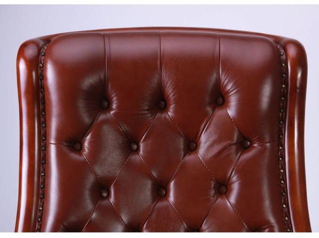 Кресло Линкольн, кожа коричневая (671-B+PVC) мех., DT-DeepTilt (фото 6)