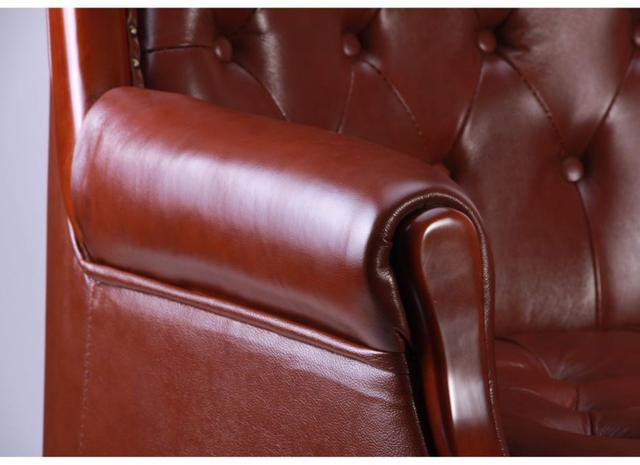 Кресло Линкольн, кожа коричневая (671-B+PVC) мех., DT-DeepTilt (фото 7)