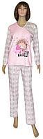 NEW! Демисезонные трикотажные пижамы из интерлока для девочек - подростков - серия 18090 Uni Lovely Pink Ежик ТМ УКРТРИКОТАЖ!