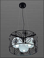 Люстра подвесная с цветочным принтом на три лампы  LV