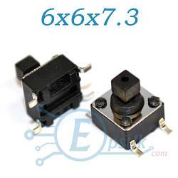 Кнопка тактовая, 6x6x7.3 мм., SMD