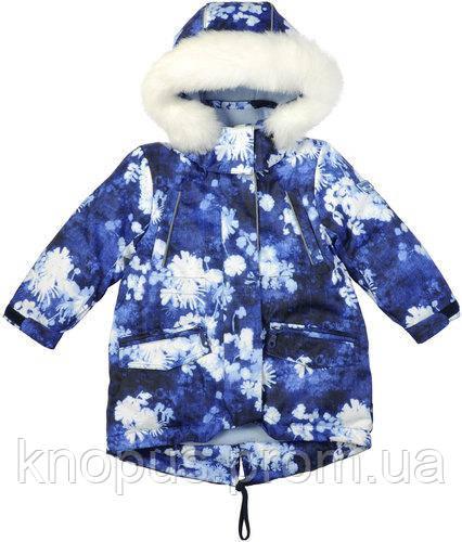 Зимняя куртка-парка  для девочки, Garden baby, размеры 80-104