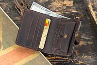 Мужской кожаный кошелек mod.Turtle brown, фото 1