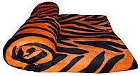 """NEW! Пушистые махровые пледы - покрывала в дизайне """"Тигр"""" 1,5 м * 2,2 м ТМ УКРТРИКОТАЖ!"""