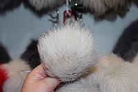 Меховой помпон песец (13-17 см) натуральный
