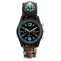 Часы-браслет выживания TRIXES Adventuring Черный