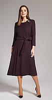 Платье Anna Majewska-1142 белорусский трикотаж, темные тона, 56