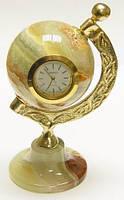 Часы  глобос  из  оникса