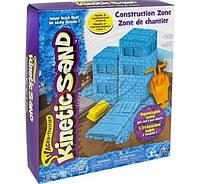 Набор песка для детского творчества - Kinetic sand construction zone голубой
