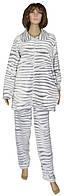 NEW! Зимние женские домашние махровые костюмы больших размеров - серия Animal Batal Шиншилла ТМ УКРТРИКОТАЖ!